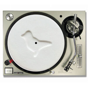 Dove White Pill / Rave Turntable slipmats - high quality - brand new (PAIR)