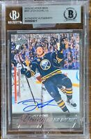 2015 2016 UPPER DECK Jack Eichel AUTO BGS cracked Case YOUNG GUNS RC ROOKIE LEAF