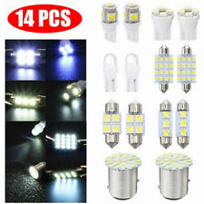 14PC Car Interior LED Light Dome License Plate Map Door Glove Box Mixed Lamp Set