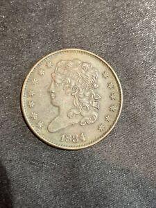 1834 1/2c Classic Head Half Cent