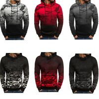 Men's Clothes Long Sleeve Hoodie Pullover Sweatshirt Outwear M L XL XXL XXL