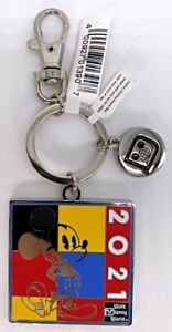 Disney Parks 2021 Mickey Mouse WDW Square Keychain Charm - NEW