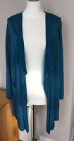 M&S Teal Waterfall Loungy Open Cardigan UK12