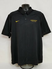 Oregon Ducks Lacrosse Team Issued Nike Fit Dry Collar Shirt Polo Men'S L