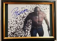 HAND SIGNED DAVE BAUTISTA - AVENGERS DRAX GUARDIANS GALAXY WITH COA FRAMED