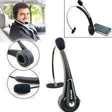 Trucker Over the Head Wireless Bluetooth Boom Mic Headset Headphones Drivers Use