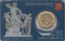 Vaticano 2012 Portamonete Ufficiale Coin Card nº 3 Monete 0.50 ? euro