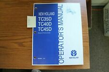 New Holland Tc35d Tc40d Tc45d Tractor Operators Manual