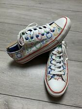 CONVERSE ALL STAR Graphic Canvas Low Top Trainers Sneakers Shoes UK 8 | Unisex