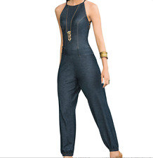 MAPALE NEW Denim Strappy Jumpsuit 1850 SIZE S