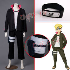 Cafiona New Arrival Naruto Boruto Uzumaki Cosplay Costume Black Headband Outfits