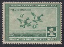 TDStamps: US Federal Duck Stamp Scott#RW4 $1 Mint H OG CV$135.00