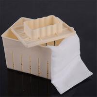 Tofu Maker Press Mold Kit + Cheese Cloth DIY Soy Pressing Mould Kitchen Tool YNW