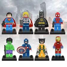 8pcs/set Marvel The Avengers Super Hero Mini Figures Ironman Hulk Kids Toy Gift