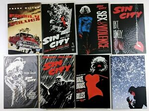 Frank Miller Sin City Comic Graphic Novel Lot of 8 Sex Violence Babe Wore Red