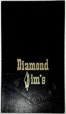 1973 Original Vintage Dinner Menu DIAMOND JIM'S RESTAURANT Los Angeles Hollywood