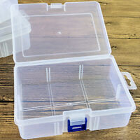 Small Transparent Plastic Storage Box Clear Square Multipurpose Display Case U S