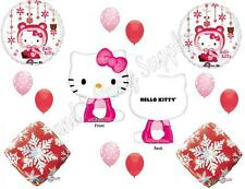 WINTER SNOW HELLO KITTY Happy Birthday Party Balloons Decoration Christmas