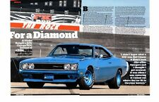 1969 DODGE CHARGER 500 440/375 HP ~ GREAT 4-PAGE MUSCLE CAR ARTICLE / AD
