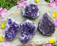 Amethyst Quartz Crystal Clusters - Natural Raw Mineral Druzy Healing 161-180g