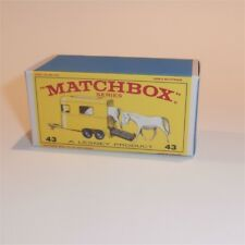 Matchbox Lesney 43 c Pony or Horse Trailer empty Repro E style Box