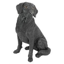 Black Labrador Retriever Puppy Dog Statue Home Garden Sculpture