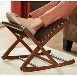 Rocking Footstool Folding Adjustable Height And Angle Wipe Clean