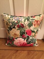 """SANDERSON """"DEVONSHIRE PLACE"""" PIPED CUSHION COVER 17""""x17"""""""