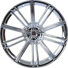 4 GWG Wheels 18 inch Chrome FLOW Rims fits NISSAN 350Z 2002 - 2008