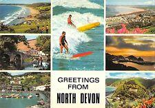 B97026 greetings from  north devon  surf  uk