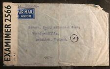 1941 Bangkok Thailand Censored Airmail Commercial Cover To Redditch England