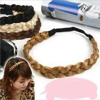 Plaited Synthetic Hair Hairband - Elastic Head Braided Plait Extensions Band Z