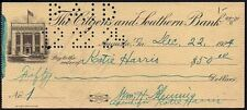 Cheque - US - The Citizens and Southern Bank, Augusta, Ga, 1924, No:- 1