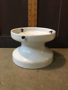 """One Vintage Alabax Flush Mount Porcelain Ceiling Light . 6"""" Fitter"""