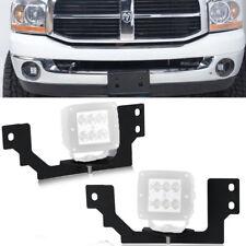 Fit 03-09 Dodge Ram 1500/2500/3500 Lower Bumper LED Fog Light Pod Mount Bracket