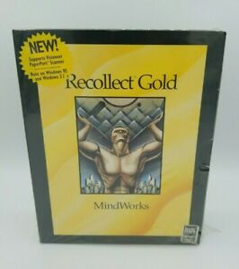 Recollect Gold Mind Works File and Icon Organization Software Vintage New Sealed