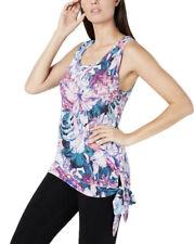 Ideology Hibiscus Printed Side-Tie Tank Top, Hibiscus Garden Medium