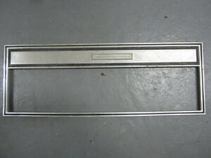 66 Ford Galaxie 500 2dr Front Door Panel Stainless Trim USED