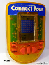 MB Connect Four Retro hand held Game Yellow clear casing 1995