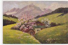 CP ART TABLEAU DEGI Chalet en montagne  1532