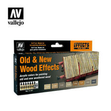 AIRBRUSH PAINT - VALLEJO MODEL AIR - OLD & NEW WOOD EFFECTS SET - 71.187