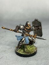 Fighter with Spear Painted Miniature for D&D or Pathfinder Fantasy RPG