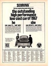 1967 NSU / SEBRING  ~  NICE ORIGINAL PRINT AD