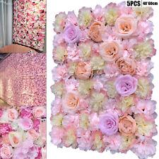 5 Stück Künstliche Blumen Paneele Seidenblume Wand Panel Hochzeit Hintergrund DE