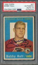 1959/60 Topps #47 Bobby Hull PSA/DNA Certified Authentic Signed *2434
