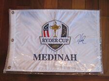 2012 PGA Ryder Cup America Pin Flag Medinah Captain Davis Love III Signed Look
