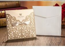 PARTY LASER CUT WEDDING INVITATIONS DIY INVITES INCLUDES CARD ENVELOPE & STICKER