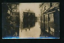 Cheshire NORTHWICH Bull Ring in flood J Barlow 1919 RP PPC local pub Hodgson