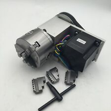 Nema34 Stepper Motor A Axis 4th Rotary Axis 100mm 3 Jaw Chuck for CNC Router