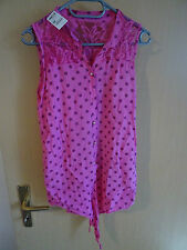 Markenlose ärmellose gepunktete Damenblusen, - tops & -shirts